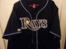 Tampa Bay Rays Majestic # 99 Buric Button Front Baseball Jersey Size Man XL