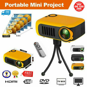 Mini Portable Pocket Projector HD 1080P Movie Video Home Theater HDMI AV TF