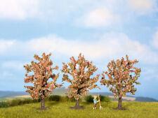 Noch 25112 - H0/TT - Fruit Trees, Pink Flowering, 3 Piece, 8 cm High -