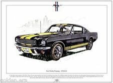 FORD SHELBY MUSTANG GT350-H - Fine Art Print  A3 size - Hertz rental car Le Mans