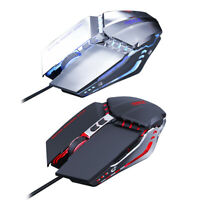 USB Wired PC Gaming Mouse 3200DPI Adjustable 7 Colors Lighting Mice Computer