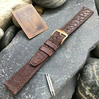 """16mm 5/8"""" Hirsch Waterproof Leather New Old Stock Vintage Watch Band nos"""