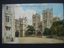 Used Colour Post Card Bristol Cathedral