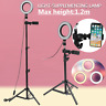 1.2m Dimmable LED Studio Camera Ring Light Tripod Makeup Lamp Selfie Phone Stand