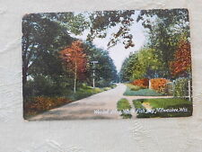 Vintage Postcard: Wooded Drive, White Fish Bay, Milwaukee WI