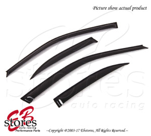 For Nissan Sentra 1995-1999 Outside-Mounted Dark Smoke JDM Window Visors 4pcs
