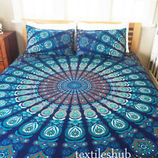 Indian Mandala Rajasthani Queen Size Cotton Bed Sheet with 2 Pillow Covers B1