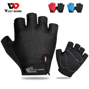 Bicycle Gloves Half Finger Cycling Glove Gym MTB Gloves Half Finger Black Medium