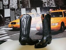 Nocona Tall Black Leather Western Cowboy Cowgirl Boots SIZE US 5.5 HOT and Sexy