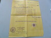 Documents De Charge - G.Martinez & Cia Agent Maritime - 1941 Bateau Maristella