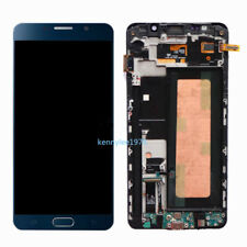 Per Samsung Galaxy Note 5 N920F lcd display touch screen Schermo+Frame blu+cover