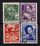 Schweiz Mich.-Nr.  306 - 309 Pro Juventute 1936, sauber gestempelt, siehe Bild