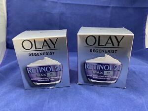 LOT OF 2 NEW Olay Regenerist RETINOL 24 MAX 2x Vitamin B3 Hydrating Moisturizer