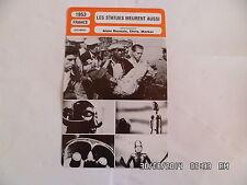 CARTE FICHE CINEMA 1953 LES STATUES MEURENT AUSSI Henry Belly F. Mitterrand