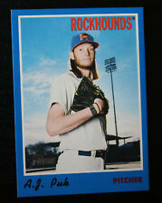 2019 Topps Heritage Minor League Blue #47 A.J. Puk - Midland RockHounds #08/99