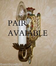 845 30's Tudor Gothic Spanish Revival Light Lamp Wall Sconce Fixture  pair