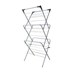 3 Tier Clothes Airer Laundry Folding Horse Indoor Patio Drying Rack Metal Dryer