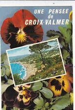The Beach Croix Valmer France Postcard used VGC