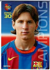 2004  MEGA CRACKS BARCA CAMPIONS CATALAN LEO MESSI ROOKIE CARD #35
