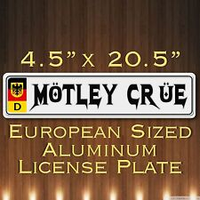 Motley Crue  Mötley Crüe European Sized  Germany License Plate