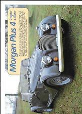 MORGAN PLUS 4,   2 AND 4 SEATER (FIAT ENGINE) SALES 'BROCHURE'/SHEET 1985