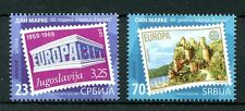Serbia 2016 MNH Stamp Day Europa CEPT 60th Anniv Castles 2v Set Stamps on Stamps