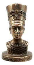 Egyptian Queen Nefertiti With Cobra Crown Bust Decorative Figurine Miniature