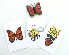 Mischievous Butterfly Cards Magic Trick Plastic Fly Fake Bug Prank Joke Gag Set