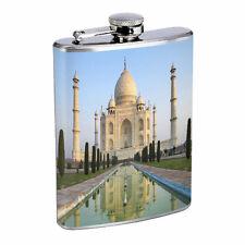Famous Landmarks D4 Flask 8oz Stainless Steel Hip Drinking The Taj Mahal India