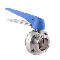 3'' Sanitary SS304 Tri Clamp Butterfly Valve Trigger Handle and Silicon Seal