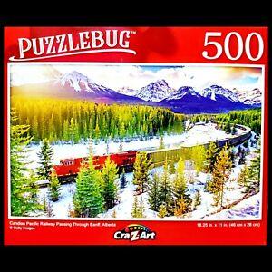 500 Piece Jigsaw Puzzle Puzzlebug 18 in x 11 in Candian Railway Alberta Banff