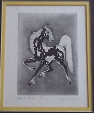 "Woody Crumbo Native Potowatomi limited edition, signed ""Ghost Horse"" etching"