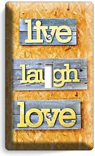 LIVE LAUGH LOVE RUSTIC WOODEN DESIGN SINGLE LIGHT SWITCH WALL PLATE KITCHEN ROOM