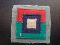 WW2 Original Colour Patch Qld L of C Area Service Corps Supply Units (AIF).. (E)