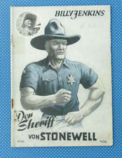 Billy Jenkins | lo sceriffo di stonewell | N. 106 | romanzo | QUADERNO