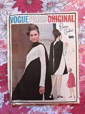 VOGUE PARIS ORIGINAL PIERRE CARDIN w TAG 1941 sewing pattern vintage Dress 1960s