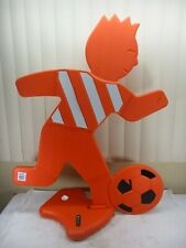 """New listing Lifetime Children At Play Visual Warning Signal Sign 34"""" Orange Soccer Player"""