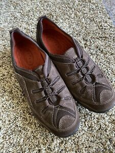Privo by Clarks Chocolate Brown Leather Slip Ons