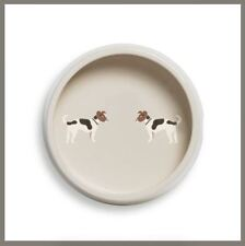 Fenella Smith Jack Russel Round Dog Bowl • New