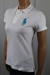 Ralph Lauren White Skinny Fit Polo Big Blue Pony NWT