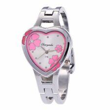 High Quality Pink Flower Watch Women Girls Quartz Bracelet Wrist Watch D15