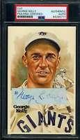 George Kelly PSA DNA Coa 1930`s Signed Perez Steele Cut Postcard Autograph