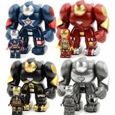 8-PACK The Incredibles Mini Superhero Action Figures ironman Hulkbuster block