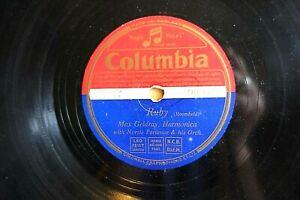 MAX GELDREY 78 RUBY b/w HARMONICA RAG UK COLUMBIA CORONATION LABEL DB 3301 E-/V+
