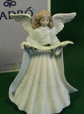 Lladro Angel-Navidad Cantante # 5875-Angel with music-Blue-Tree Topper-1991 -MIB