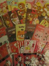 Kawaii Sticker Card Hello Kitty Rilakkuma Cat Bunny Panda One Piece Bookmark 1pc