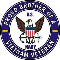 """Proud Brother of a US Army Vietnam Veteran 5.5"""" Sticker 'Officially Licensed'"""