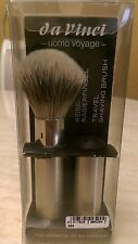 Da Vinci 295 Shaving Travel Series  UOMO Silvertip Badger hair 18mm Knot, New.