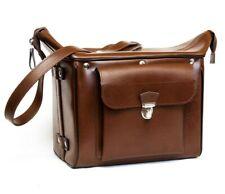 *MINT* Vintage Leatherette Bag Photo Camera Case Leather Pentacon Six Rolleiflex