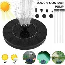 Solar Pumpe Teichpumpe Springbrunnen Brunnen Fontäne Garten Wasserspiel Düse Set